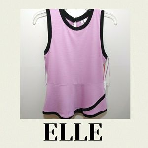ELLE lavender and black sleeveless XS